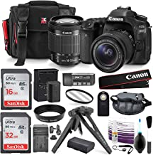 Canon EOS 80D DSLR Camera with EF-S 18-55mm f/3.5-5.6 IS STM Lens, Total Of 48GB SDHC along with Deluxe accessory bundle