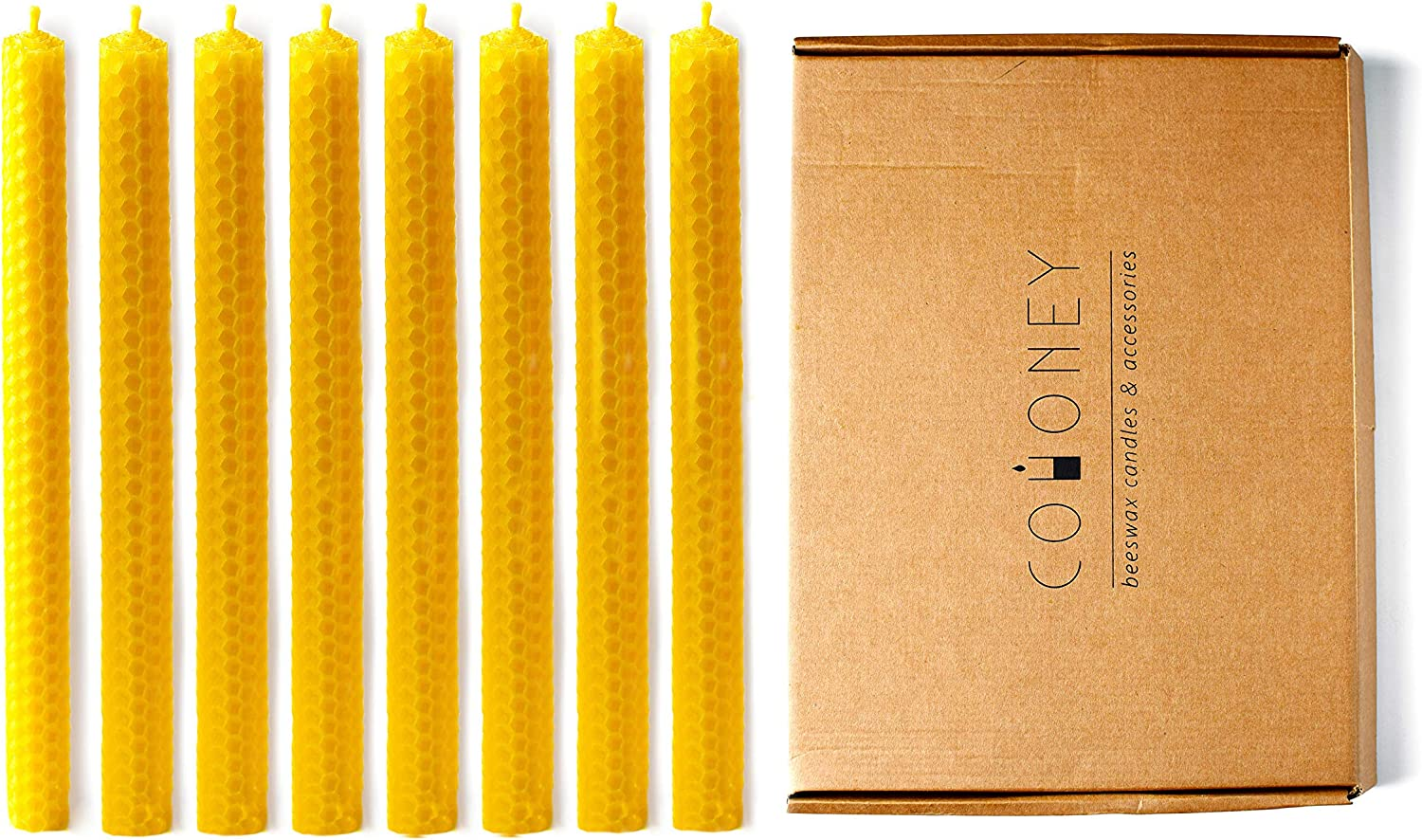 Cohoney Large Beeswax Taper Candles Fees free Set Dallas Mall 8 12 Candlesticks i of