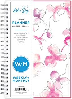 Blue Sky 2020 Weekly & Monthly Planner, Flexible Cover,...