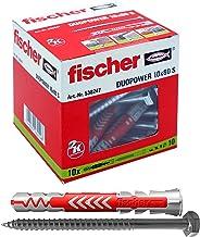 fischer DUOPOWER 10 x 80 S-universele pluggen met schroef voor het bevestigen van hangkasten, wandrekken in beton, metselw...