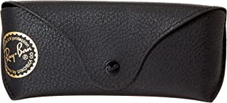 Ray Ban Black Leather Like Medium Case With Gold Stamp, Case Only