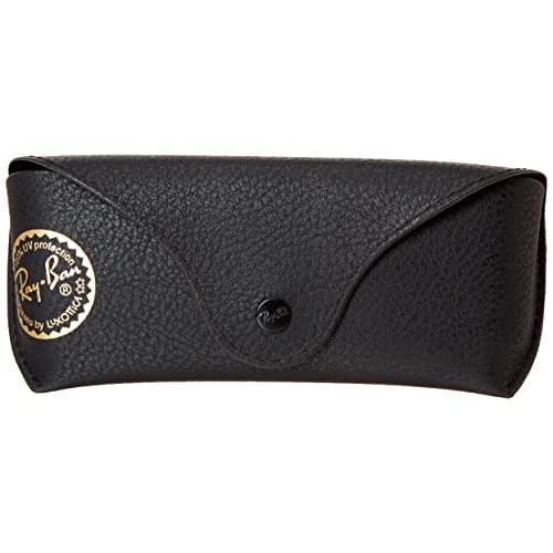 0469f8aadd Ray Ban Black Leather Like Medium Case With Gold Stamp
