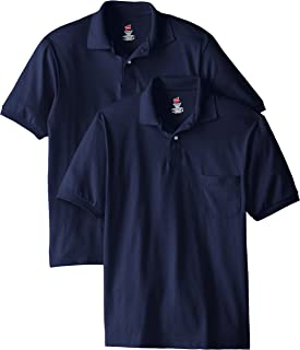 Hanes Men's Short Sleeve Jersey Pocket Polo (Pack of 2)
