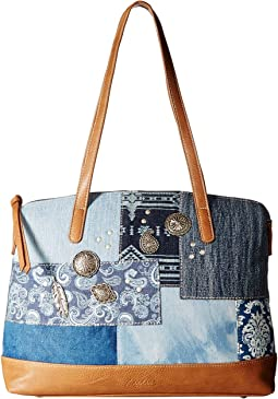 American West - Indigo Zip Top Satchel Tote
