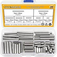 Shelving and More 130,000-PSI Shear Strength Heat Treated Alloy Steel for Extra Hardness 1//4 x 5//8 GILLIEM Dowel Pins for Precision Alignment Perfect for Bunk Beds Pack of 25