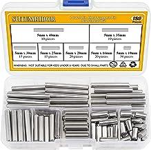 Sutemribor 120 PCS 7 Sizes Dowel Pin Kit, Shelf Support Pin Fasten Elements Assortment Kit, 304 Stainless Steel