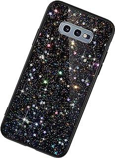 Funda Compatible con Samsung Galaxy S10e.KunyFond TPU Silicona Lentejuela Brillo Brillante Suave Carcasa Estrella Purpurin...