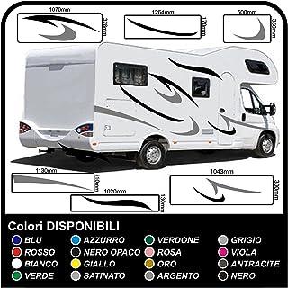 Wohnmobil Wohnwagen Grafik Dekoration Aufkleber Camper Sticker Vinyl Wohnmobil Grafiken Streifen Set RV Camper Van Caravan Reisemobil   Grafik 02 (WIE AUF DEM Bild Gezeigt)