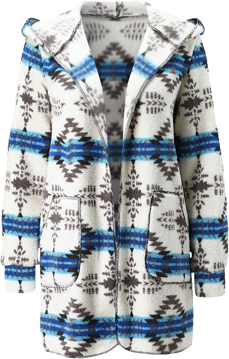 HDgTSA Women's Cardigan Long Sleeves Open Front Knitted Sweater Cardigan Coat Outwear with Pockets
