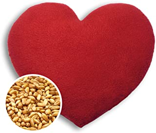 SACO TÉRMICO Leschi de semillas para microondas/para el dolor de estómago/Corazón, grande, rojo