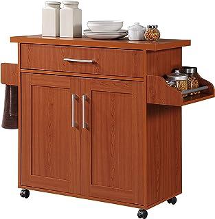 Amazon.com: Red - Kitchen Islands & Carts / Kitchen & Dining ...