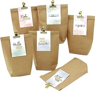 Papierdrachen 13 torebek z wizytówkami zestaw 1 - złote klamerki