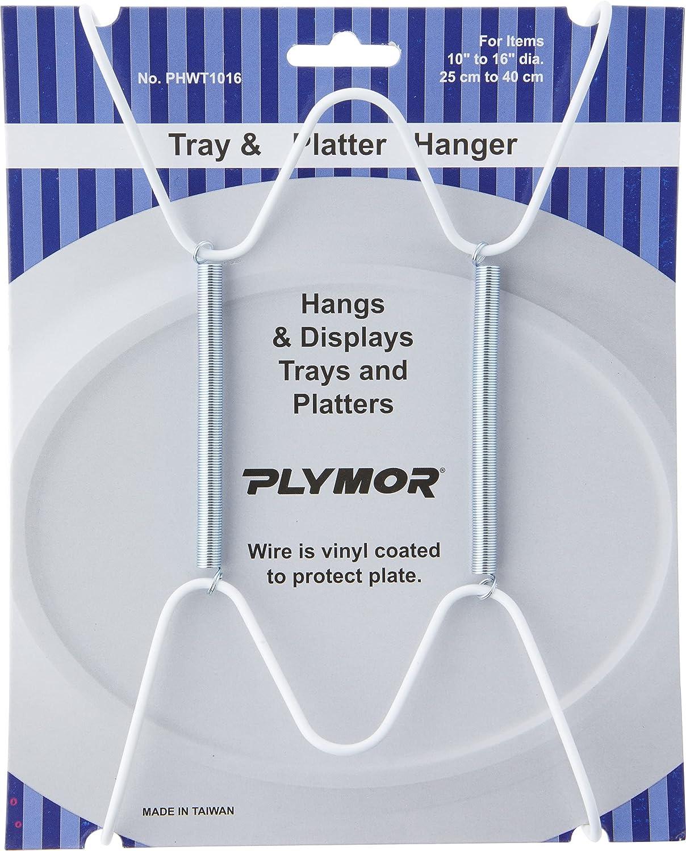 Plymor White Vinyl Finish Wall Tray Mountable Pack NEW Outstanding before selling ☆ Hanger 12