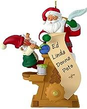 Hallmark Keepsake Mini Christmas Ornament 2018 Year Dated, Santa Hot Air Balloon Up and Away Miniature, 1.31