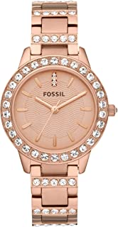 Fossil Women's Jesse Stainless Steel Glitz Dress Quartz Watch