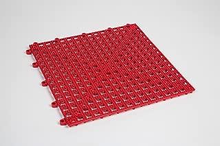 Dri-Dek 1'x1' Interlocking Tiles - Flexible Patio, Porch, Lanai, Balcony, Basement & Pool Deck Flooring (1'x1' Tiles - 50-Pack, Red)