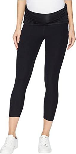 54194b860c Darkest Night. 9. Beyond Yoga. Fold Down Maternity Capri Leggings. $106.00.  4Rated ...