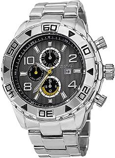 August Steiner Men's Analog Display Swiss Quartz Silver Watch