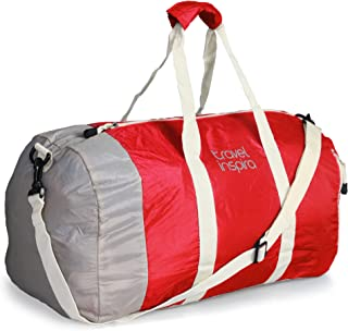 travel inspira Duffel Bag For Women & Men - Foldable lightweight Duffle For Luggage Gym Sports