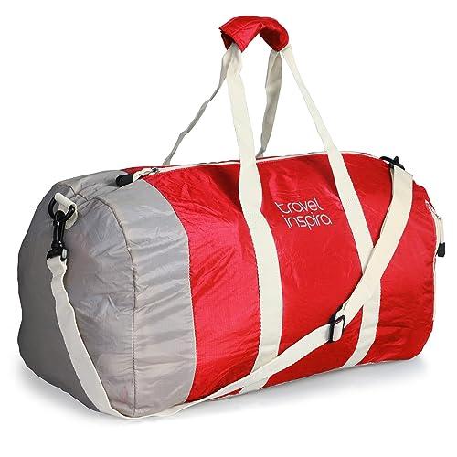 56685efd33 travel inspira Foldable Duffel Travel Duffle Bag Collapsible Packable  Lightweight Sport Gym Bag