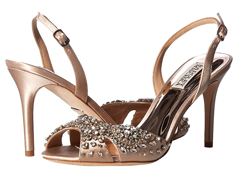 Badgley Mischka Paula (Latte Satin) Women