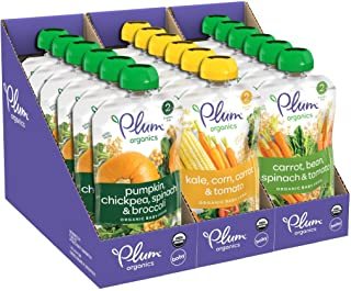 Sponsored Ad - Plum Organics Hearty Veggie, Organic Baby Food, Variety Pack, 3.5 Ounce Pouch (Pack of 3)