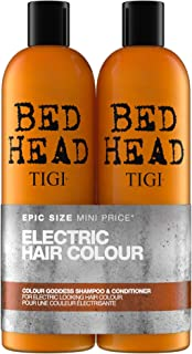 Bed Head by Tigi Colour Goddess Shampoo and Conditioner for Coloured Hair, 750 ml, Pack of 2