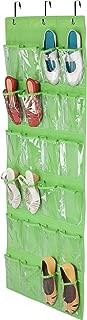 Honey-Can-Do 24-Pocket Non-Woven Over The Door Shoe Organizer, Lime Green