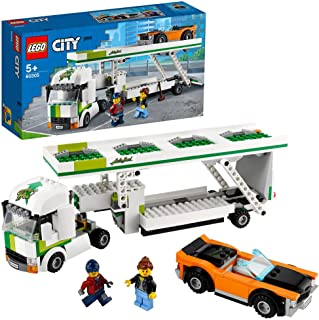 LEGO 60305 City Great Vehicles Car Transporter Toy with Muscle Racing Car and Double Deck Trailer
