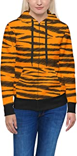 Rainbow Rules Tigger Stripes Winnie The Pooh Inspired Women Zip Up Hoodie