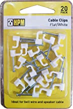 HPM DQ001 5mm White Cable Clips Accessory - Cable clips Flat type Pack of 20 5mm white