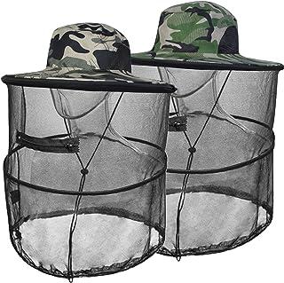 قبعة شمسية برأس ناموسية مع قناع شبكي مخفي