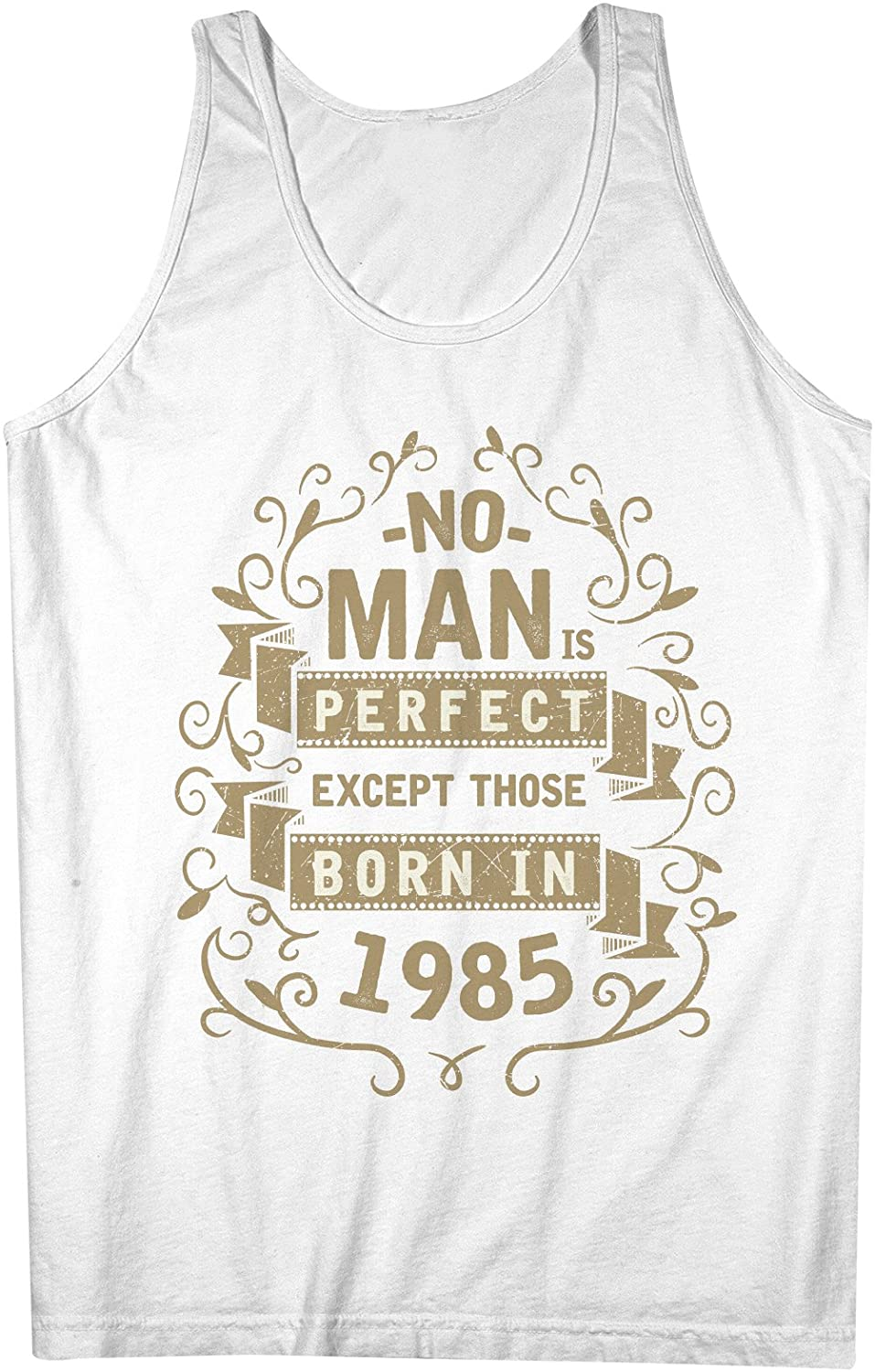 No Man Is Perfect Except Those Born In 1984 お誕生日 男性用 Tank Top Sleeveless Shirt