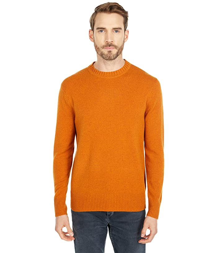 Men's Vintage Sweaters, Retro Jumpers 1920s to 1980s J.Crew Merino Nylon Crew Heather Squash Mens Clothing $47.99 AT vintagedancer.com
