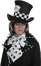 Fun Costumes Dark Mad Hatter Wig Standard Black,White
