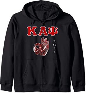 Kappa Crimson Alpha Psi Fraternity Great Gift Zip Hoodie