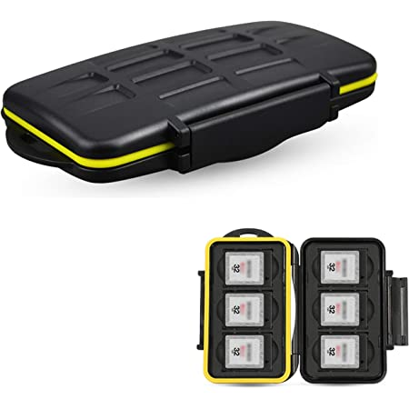 JJC Deluxe XQD Card Case XQD Card Storage Holder XQD Card Box for 6 XQD Memory Card,Water-Resistant and Shockproof