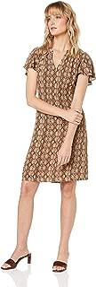 French Connection Women's Snakeskin Print Mini Dress, Tan/Multi
