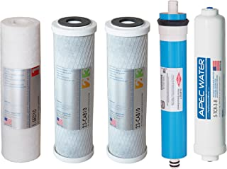 APEC Water Systems FILTER-MAX90-38 US Made 90 GPD Complete Replacement Set for Ultimate Series Reverse Osmosis Water Filter System with 3/8