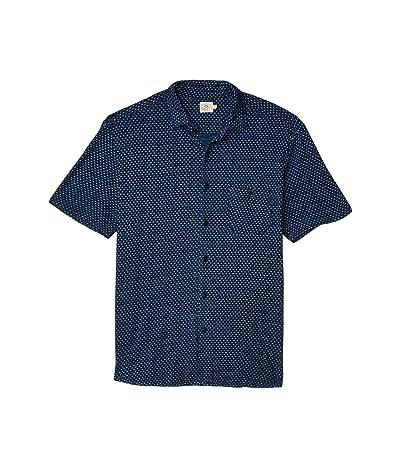 Faherty Short Sleeve Knit Coast Shirt (Dark Indigo Fleck) Men