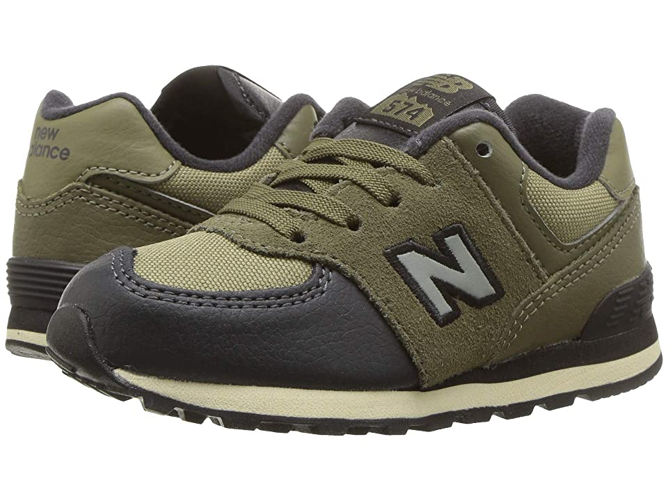 New Balance Kids IC574v1 (Infant/Toddler) (Covert Green/Triumph Green) Boys Shoes