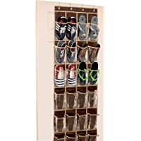 Deals on 24 Pockets SimpleHouseware Crystal Clear Hanging Shoe Organizer