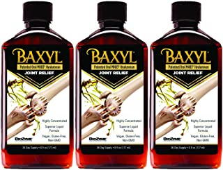 Baxyl Hyaluronic Acid Liquid Supplement - Hyaluronic Acid Supplement for Joint Relief - Vegan, Gluten-Free, Odorless and Tasteless Collagen Liquid Hyaluronic Acid Joint Support- 3 Bottles of 6 Fl Oz