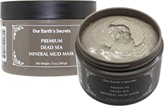 Our Earth's Secrets Premium Mineral Dead Sea Mud Mask 13 OZ (369 g) Spa Facial Cleansing Anti Aging Mask for Clear Radiant Skin
