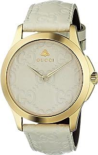 Gucci - Reloj Análogo clásico para Mujer de Cuarzo con Correa en Cuero YA1264033