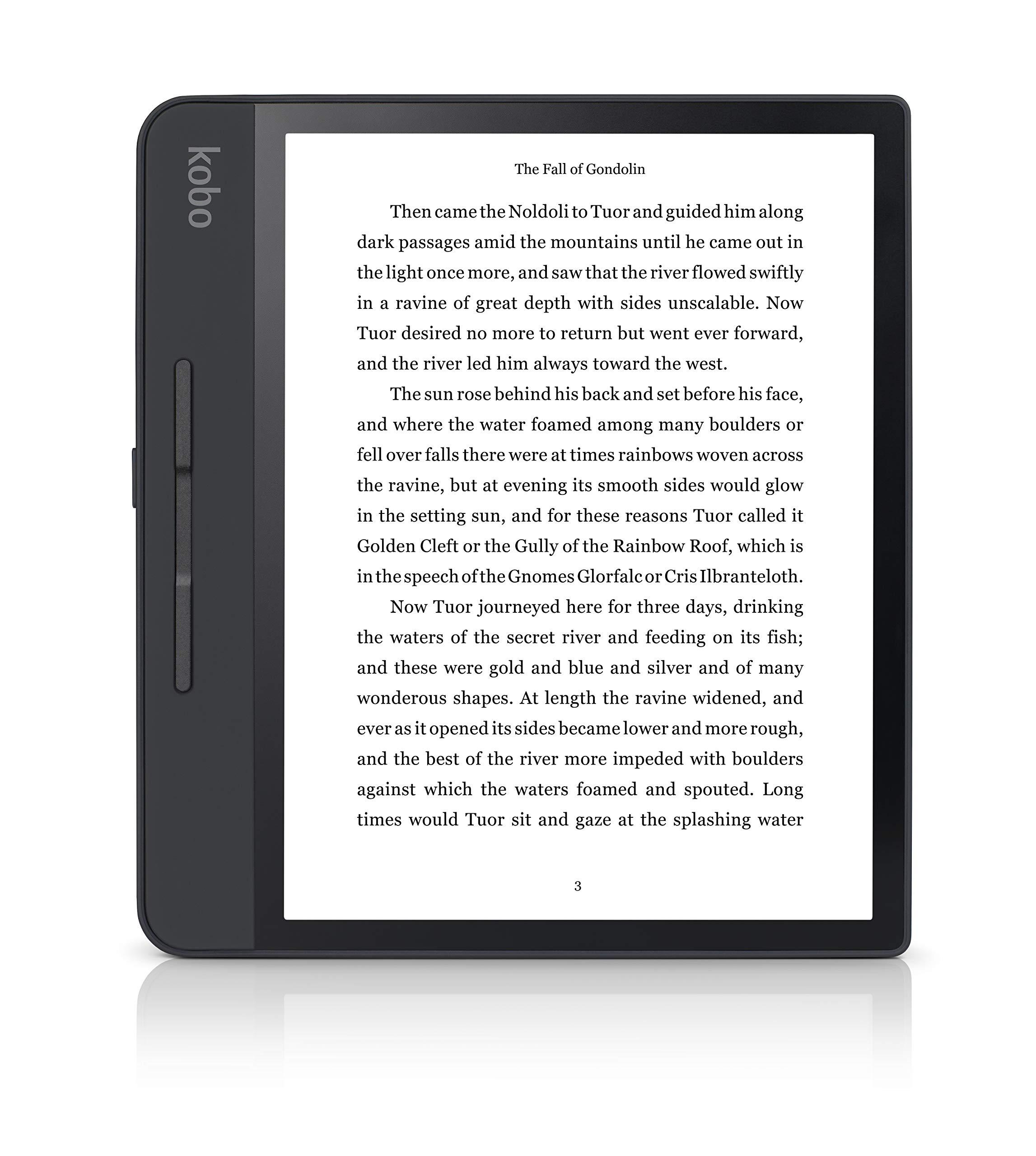 Rakuten Kobo Forma - Lector de libros electrónicos con Pantalla táctil, 8 GB, Wifi, 1440 x 1920 píxeles, 3: 4, 20.3 cm (8