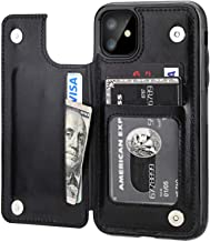 iPhone 11 Wallet Case with Card Holder,OT ONETOP PU Leather Kickstand Card Slots Case,Double Magnetic Clasp and Durable Sh...
