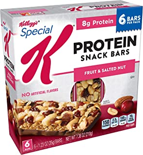 Special K Protein Snack Bars, Fruit and Salted Nut, 7.38 oz (6 Count)