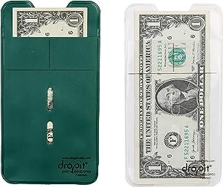 Two Color Bundle   Green & Clear  10 Each for a Total of 20 envelopes   Reuseable Dropit Safe Envelope for Safe Depositing...