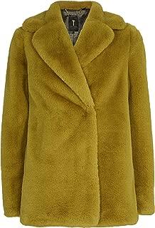 Ted Baker Women's Zenna Faux Fur Coat Yellow